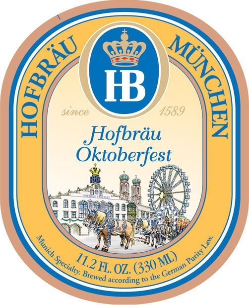 Label art for the Hofbräu Oktoberfestbier by Hofbräu München