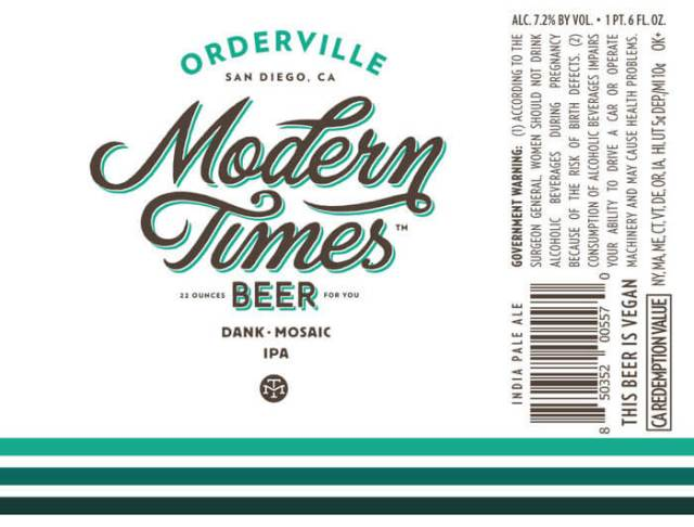 Label art for the Orderville by Modern Times Beer