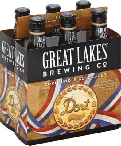 Packaging art for the Dortmunder Gold Lager by Great Lakes Brewing Co.