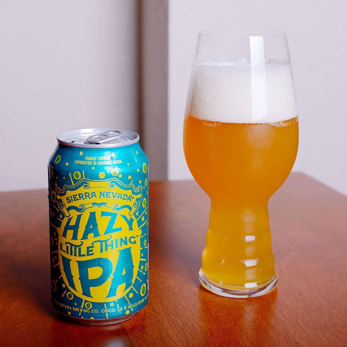 Hazy Little Thing IPA is an American IPA brewed in the New England style by Sierra Nevada Brewing Co. and blends hoppy citrus, pine, and resin with tropical fruit.