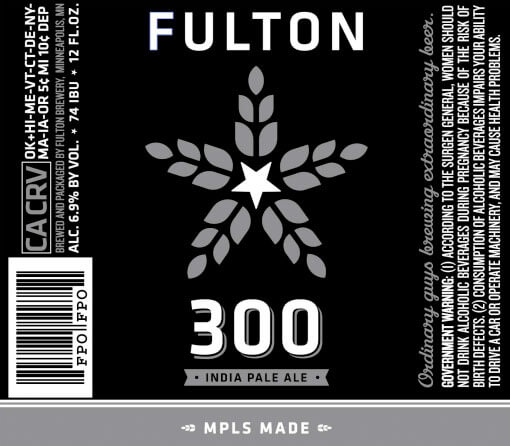 Label art for the 300 by Fulton Beer