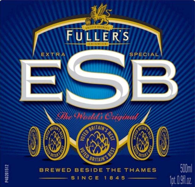 Label art for the Fuller's ESB by Fuller Smith & Turner PLC