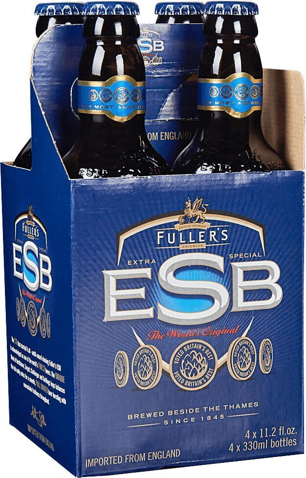 Packaging art for the Fuller's ESB by Fuller Smith & Turner PLC