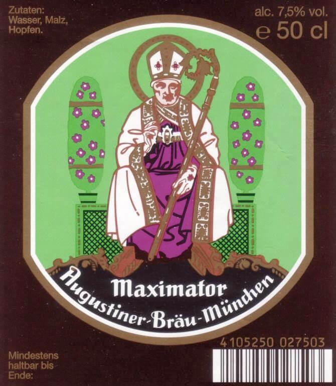Label art for the Augustiner Bräu Maximator by Augustiner-Bräu Wagner KG