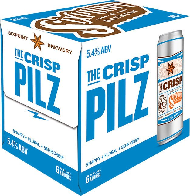 Packaging art for the The Crisp by Sixpoint Brewery