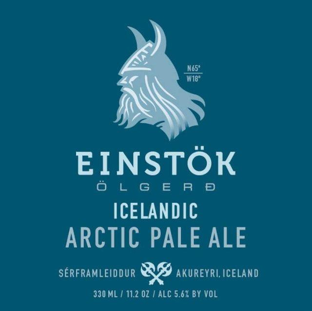 Label art for the Icelandic Arctic Pale Ale by Einstök Ölgerð