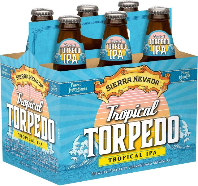 Packaging art for the Tropical Torpedo by Sierra Nevada Brewing Co.