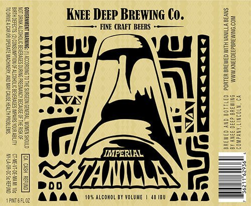 Label art for the Imperial Tanilla by Knee Deep Brewing Co.