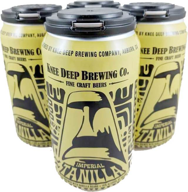 Packaging art for the Imperial Tanilla by Knee Deep Brewing Co.