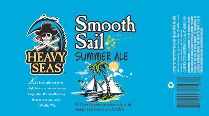 Packaging art for the Smooth Sail Summer Ale by Heavy Seas Beer