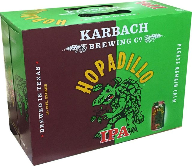 Packaging art for the Hopadillo IPA by Karbach Brewing Co.