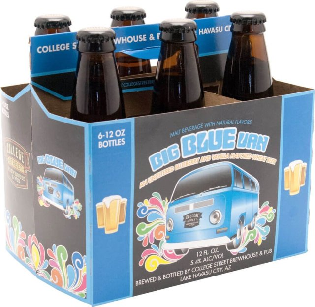 Packaging art for the Big Blue Van by College Street Brewhouse & Pub