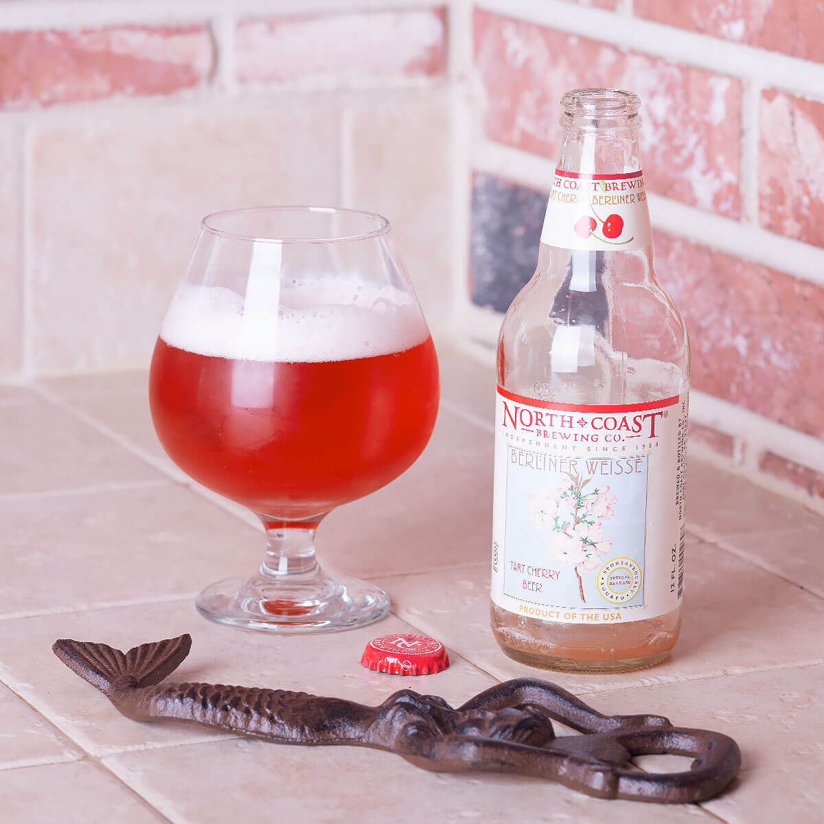 Tart Cherry Berliner Weisse is a German-style Berliner Weisse by North Coast Brewing Co. that blends tart cherry and sourdough bread.