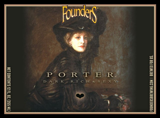 Label art for the Founders Porter by Founders Brewing Co.