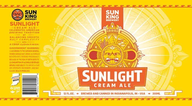 Label art for the Sunlight Cream Ale by Sun King Brewery