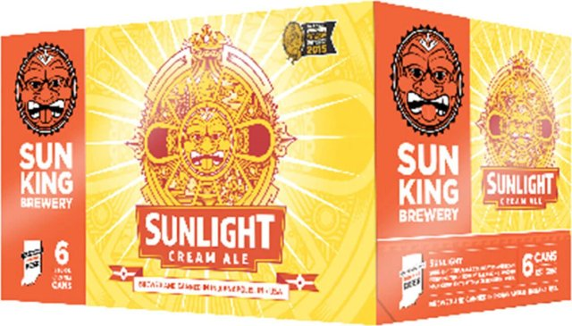 Packaging art for the Sunlight Cream Ale by Sun King Brewery