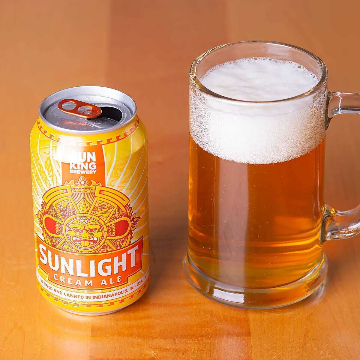 The award-winning Sunlight Cream Ale by Sun King Brewery is a light, please-all, easy drinker of a beer.
