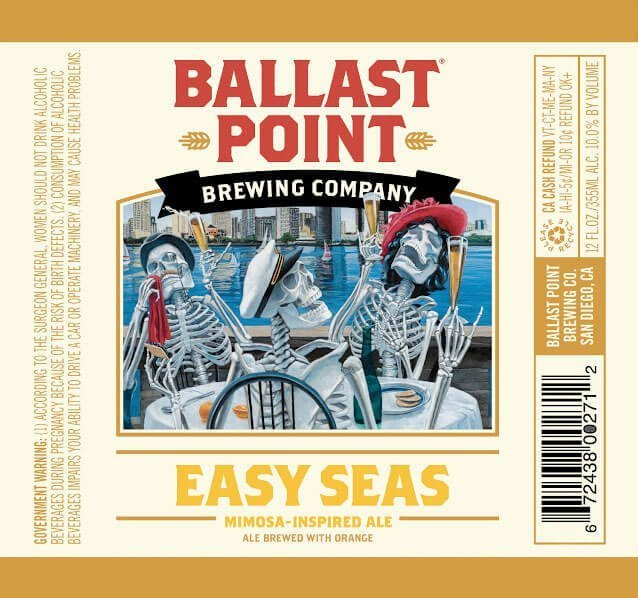 Label art for the Easy Seas by Ballast Point Brewing Company