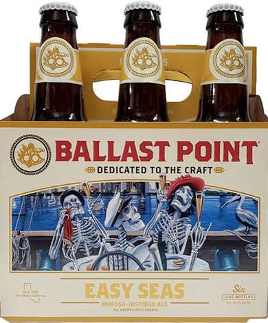 Packaging art for the Easy Seas by Ballast Point Brewing Company
