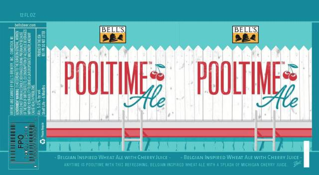 Label art for the Pooltime Ale by Bell's Brewery, Inc.