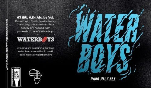 Label art for the Waterboys by Champion Brewing Company