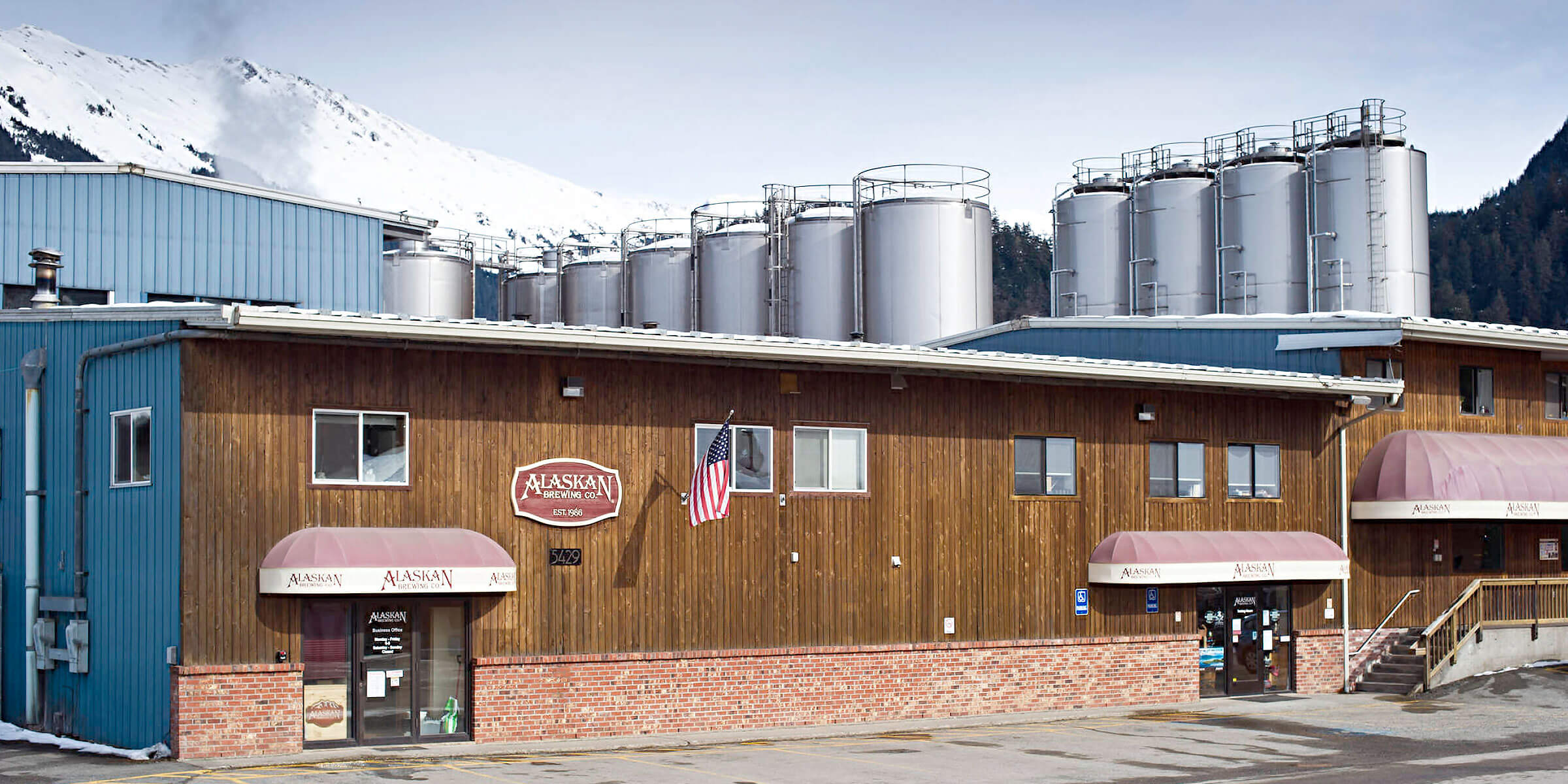 Outside the Entrance to the Brewery at Alaskan Brewing Co. in Juneau, Alaska