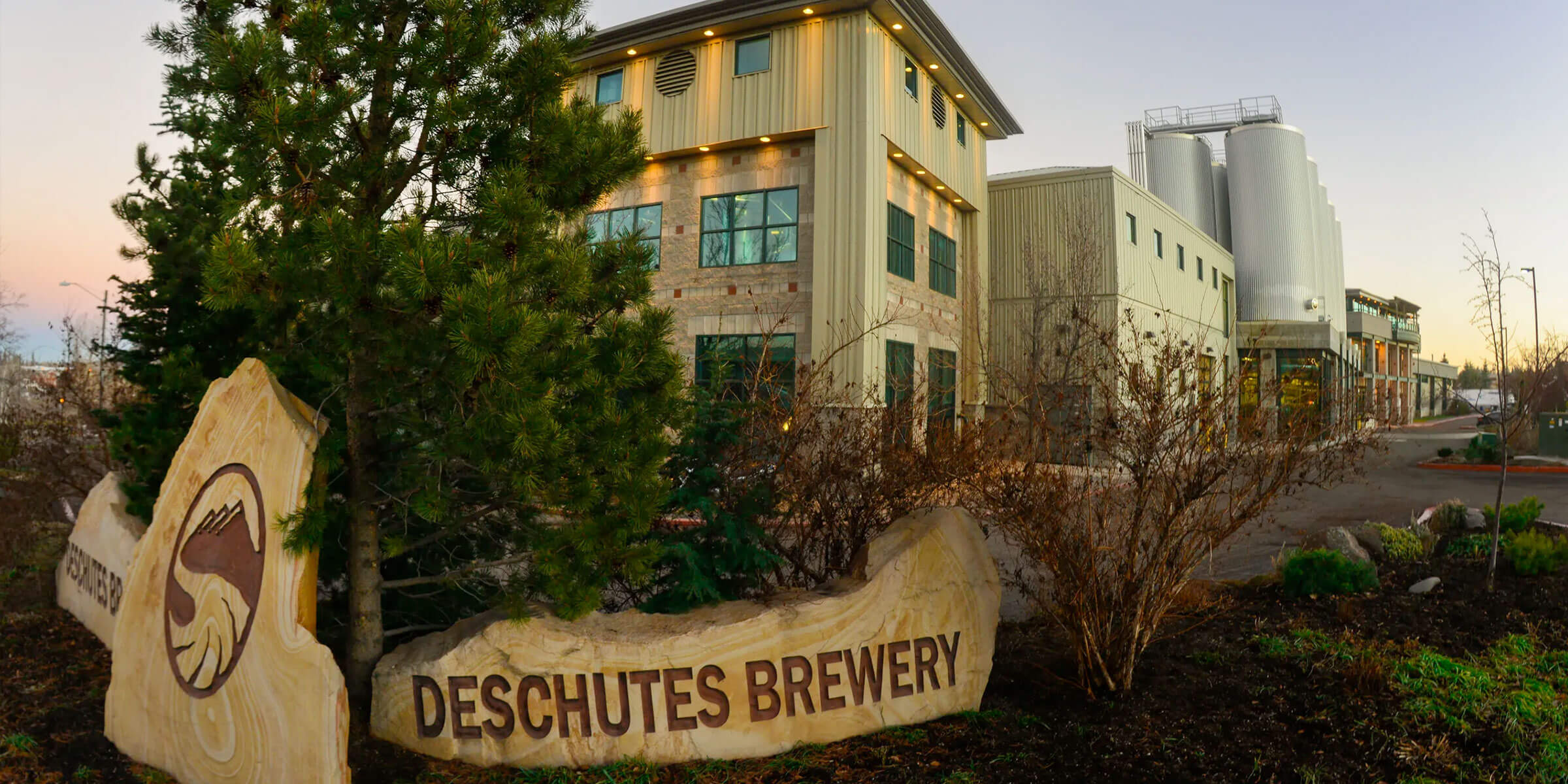 Outside the Deschutes Brewery headquarters in Bend, Oregon