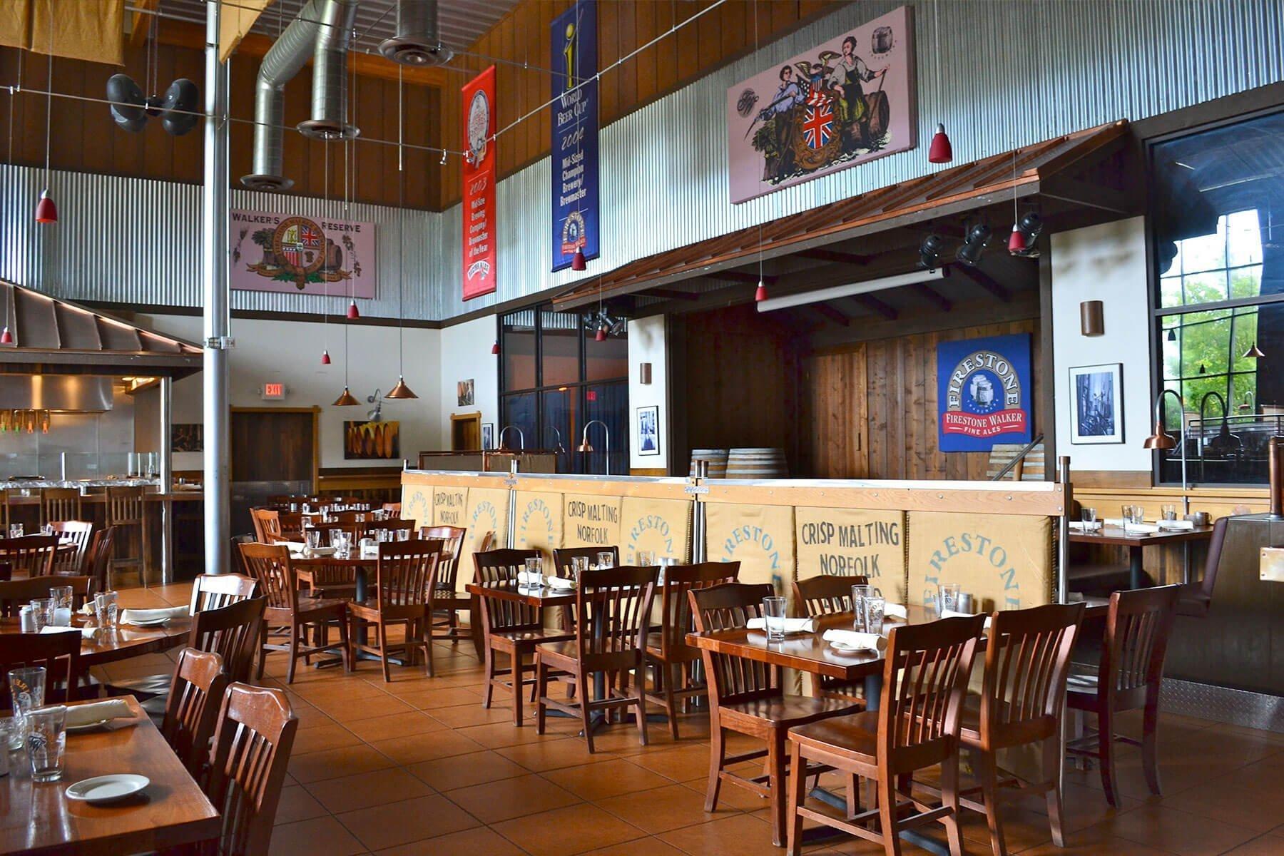 Firestone Walker Brewing Company Taproom Interior in Paso Robles, California