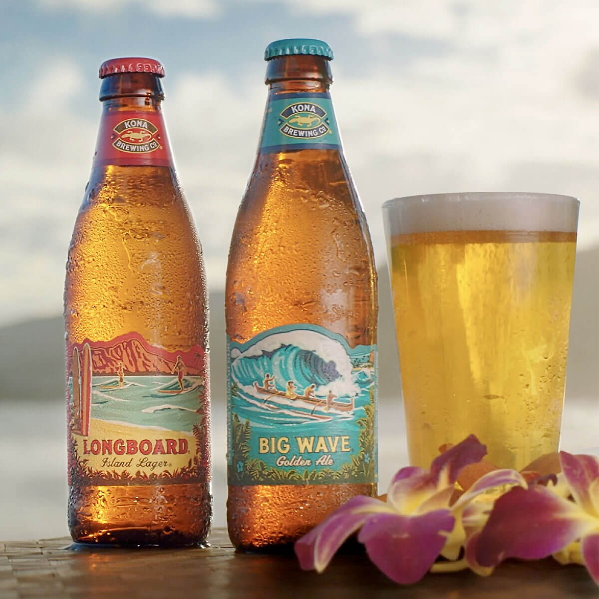 Beers from Kona Brewing, one of the brands part of the Craft Brew Alliance