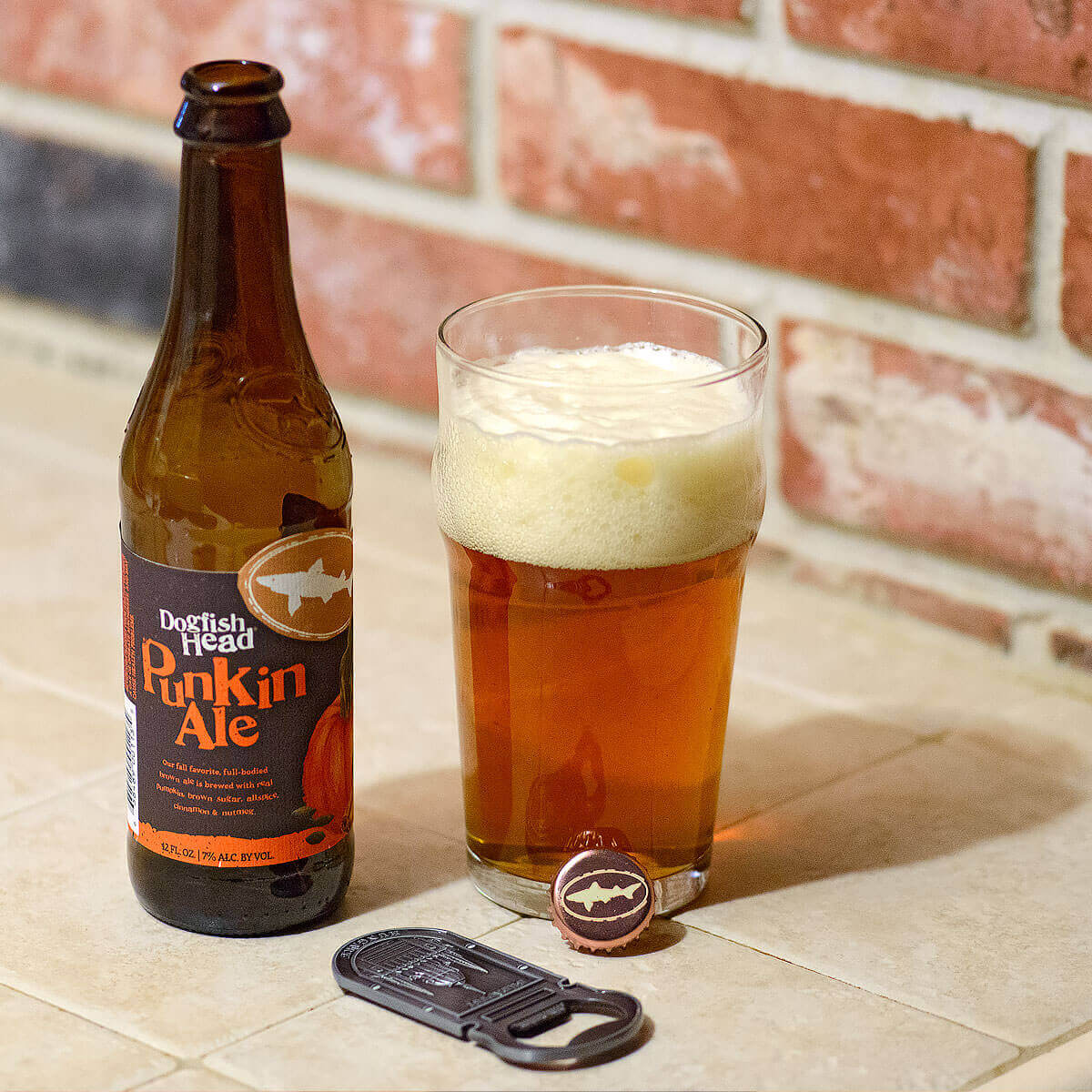 Punkin Ale is a Pumpkin Ale by Dogfish Head Craft Brewery that smacks the palate with booze, hops, pumpkin, and spices.