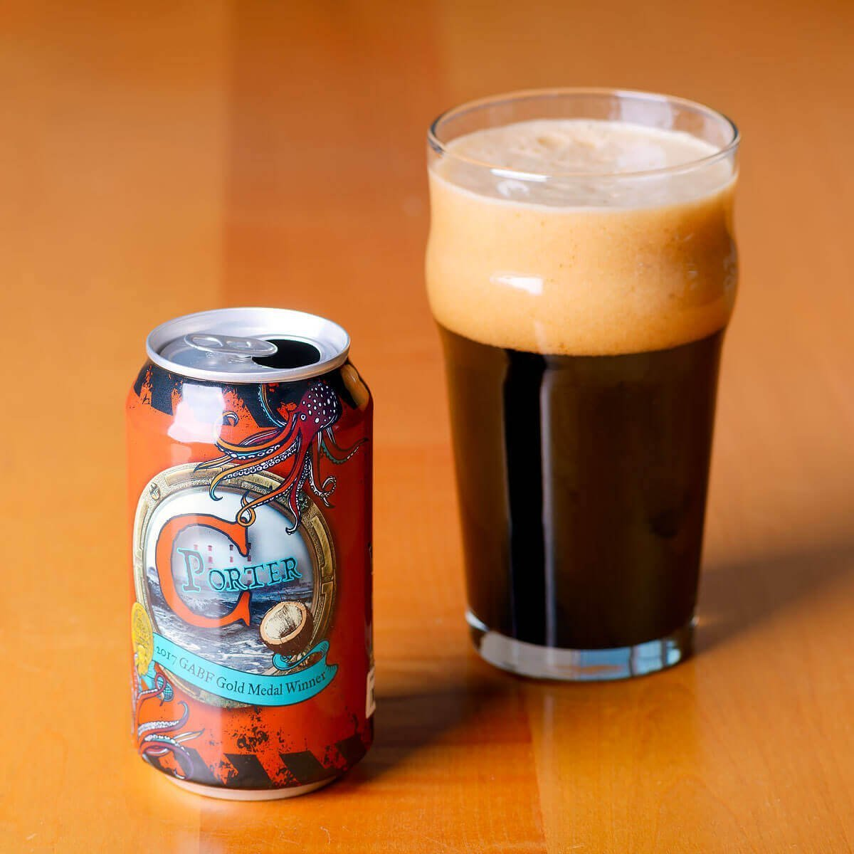 C Porter is an award-winning American Porter brewed by LauderAle that wonderfully balances coffee roast with sweet coconut, vanilla, and chocolate.