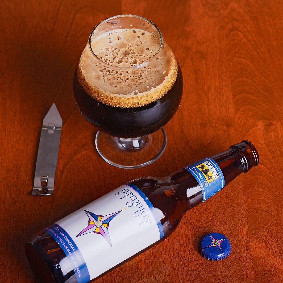 Expedition Stout is a Russian Imperial Stout brewed by Bell's Brewery, Inc. that wonderfully balances roast and sweet flavors with just the right feel and warmth.