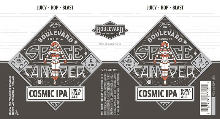 Label art for the Space Camper Cosmic IPA by Boulevard Brewing Co.