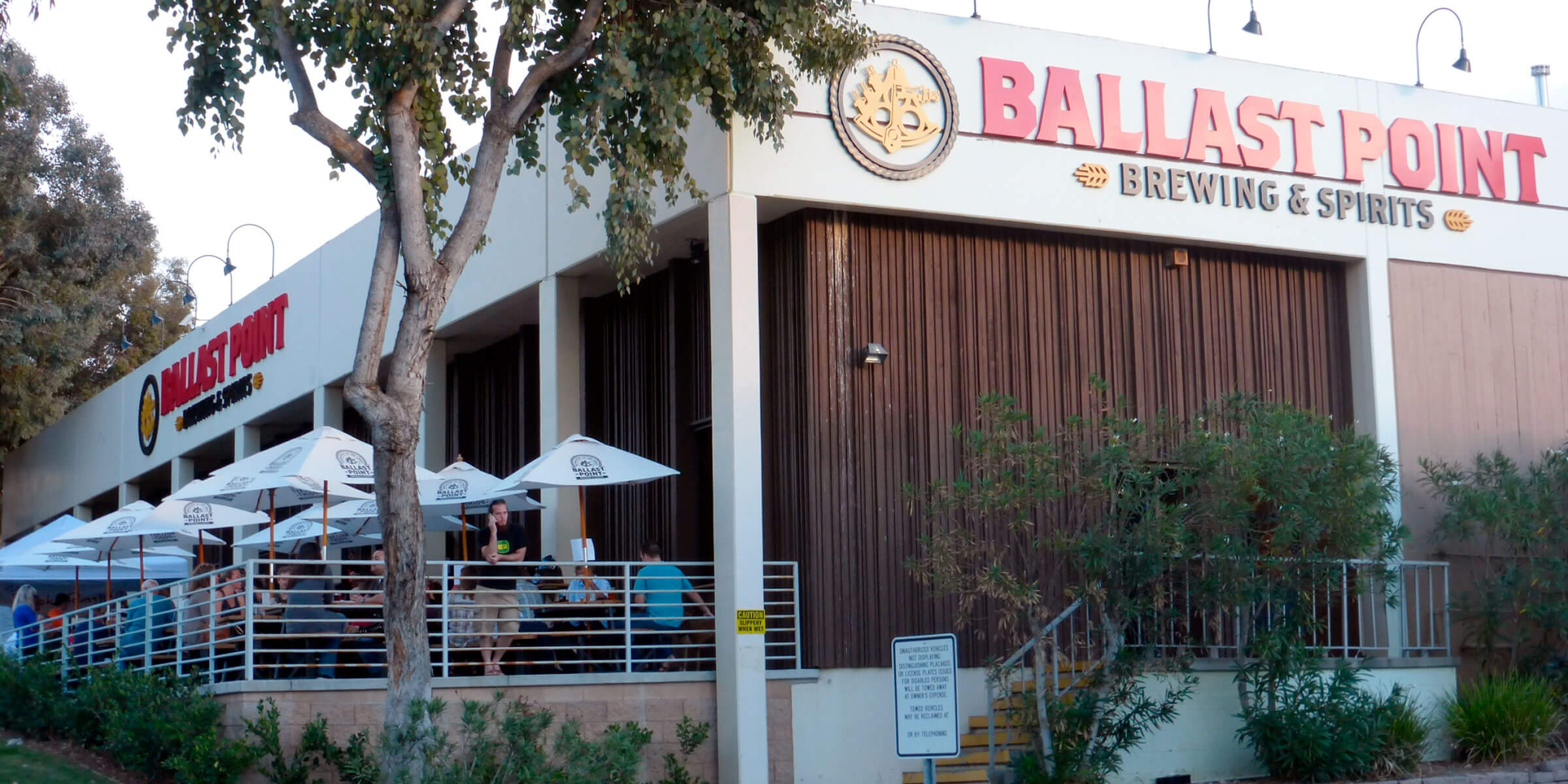Outside the Ballast Point Brewing Company Taproom in San Diego, California