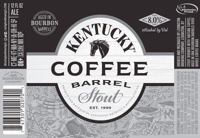 Label art for the Kentucky Coffee Barrel Stout by Alltech Lexington Brewing & Distilling Co.