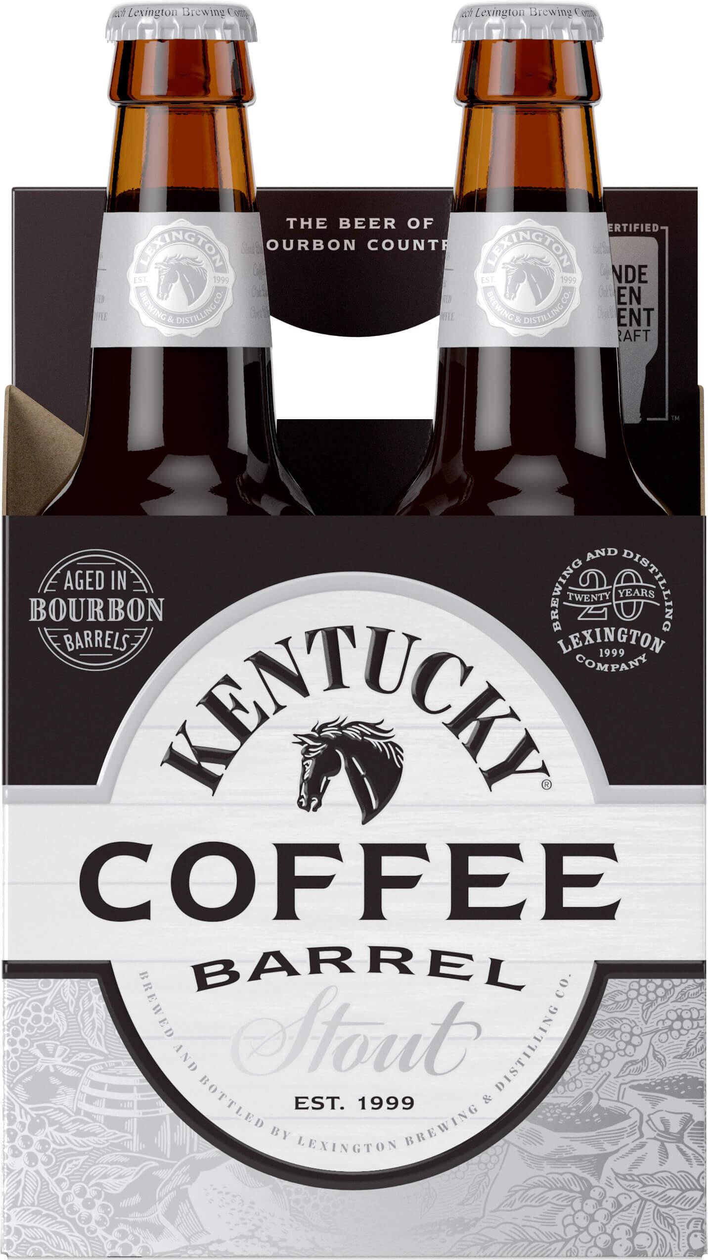 Packaging art for the Kentucky Coffee Barrel Stout by Alltech Lexington Brewing & Distilling Co.
