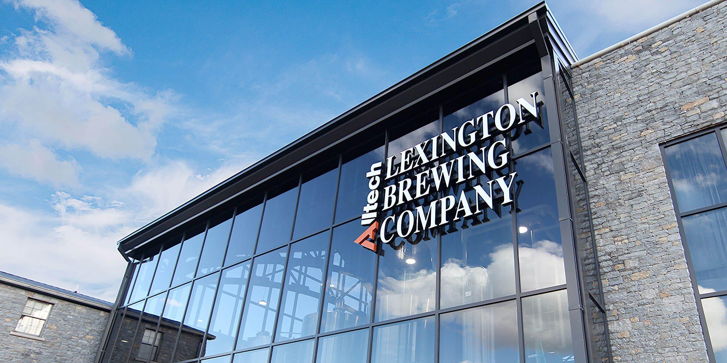 Outside the Alltech Lexington Brewing & Distilling Co. in Lexington, Kentucky