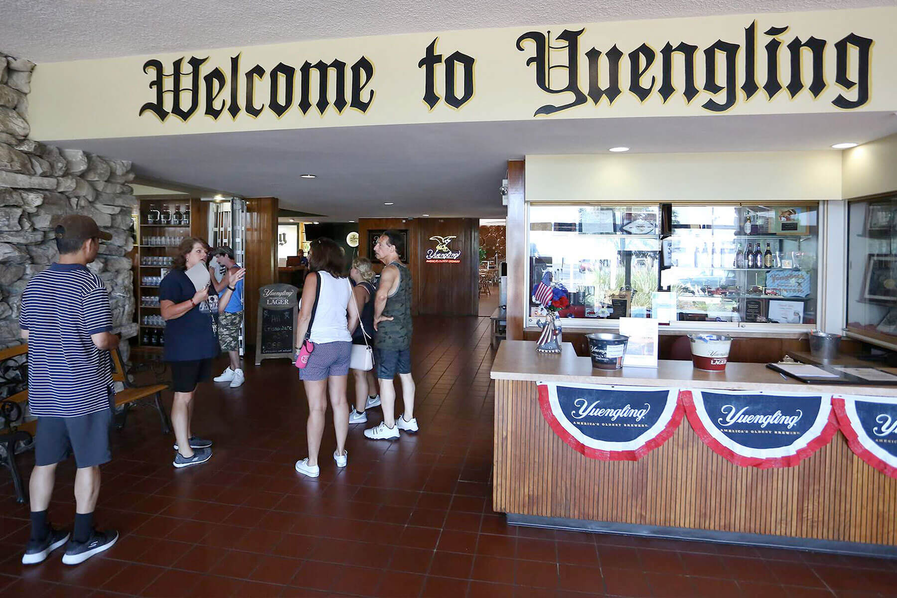 Inside the visitor center at the D. G. Yuengling & Son, Inc. production facility in Tampa, Florida