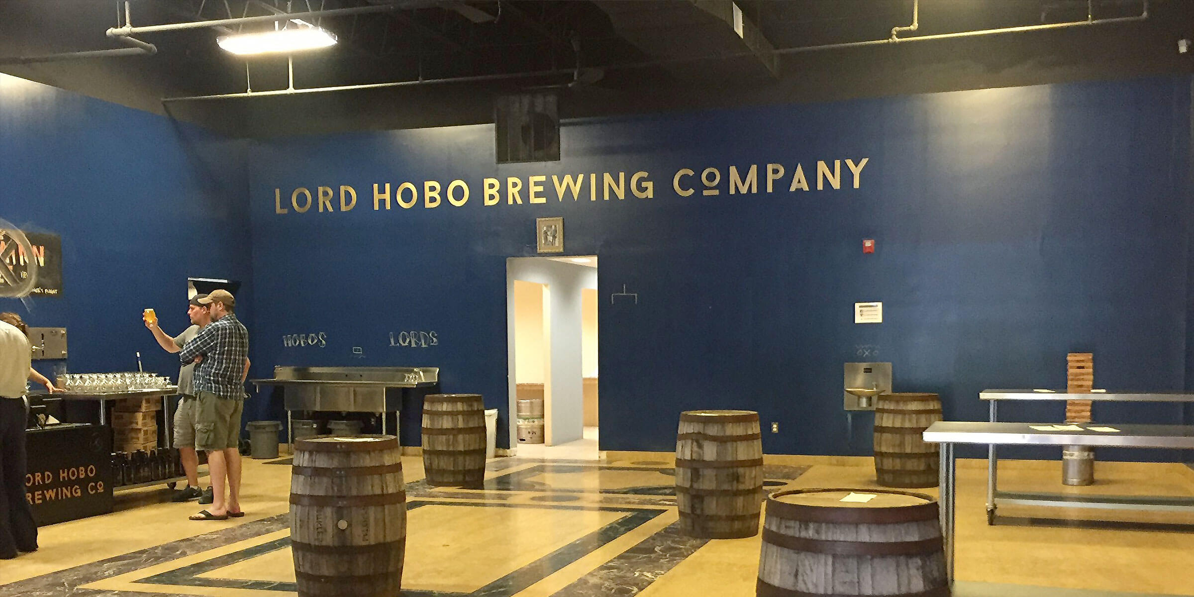 Inside the taproom at Lord Hobo Brewing Co. in Woburn, Massachusetts