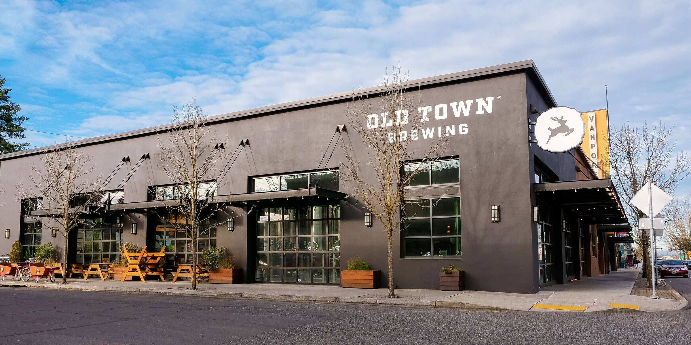 Outside the Old Town Brewing Northeast Brewery location in Portland, Oregon