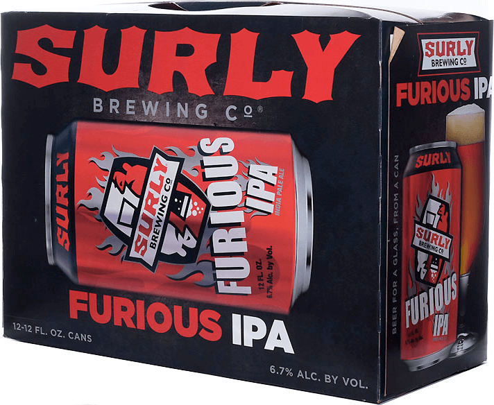 Packaging art for the Furious by Surly Brewing Co.