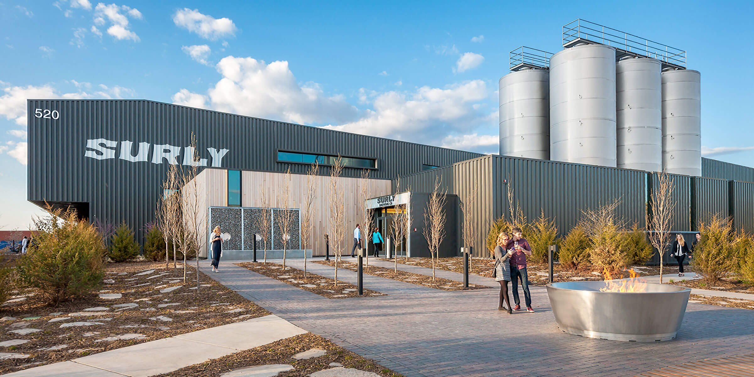 Outside the brewery of Surly Brewing Co. in Minneapolis, Minnesota