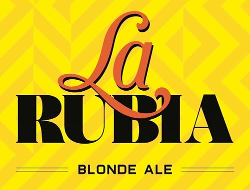 Label art for the La Rubia by Wynwood Brewing Company