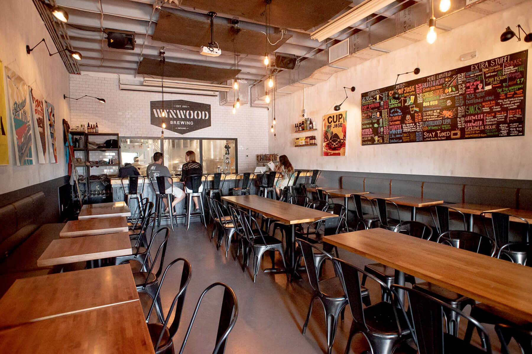 Inside the Wynwood Brewing Company taproom in Miami, Florida