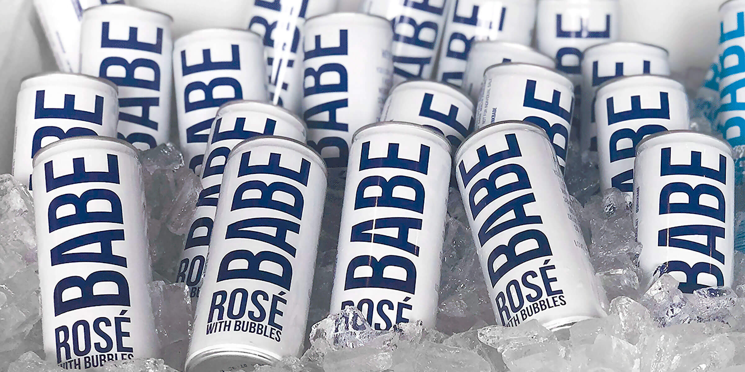 Slim cans of Babe wine on ice by Swish Beverages