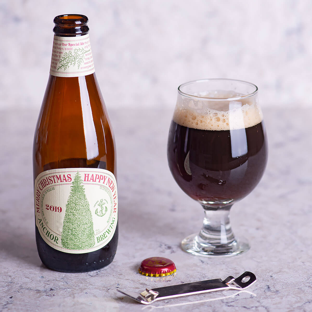 Our Special Ale (Anchor Christmas Ale) is a Winter Warmer by Anchor Brewing that's earthy and warm with a blend of pine, wood, roast, dark chocolate, and spice.