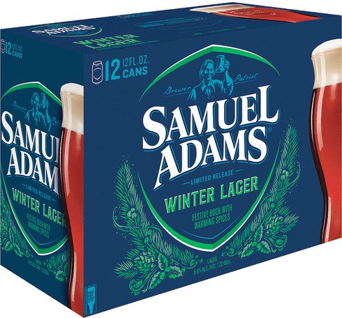Packaging art for the Samuel Adams Winter Lager by Boston Beer Company