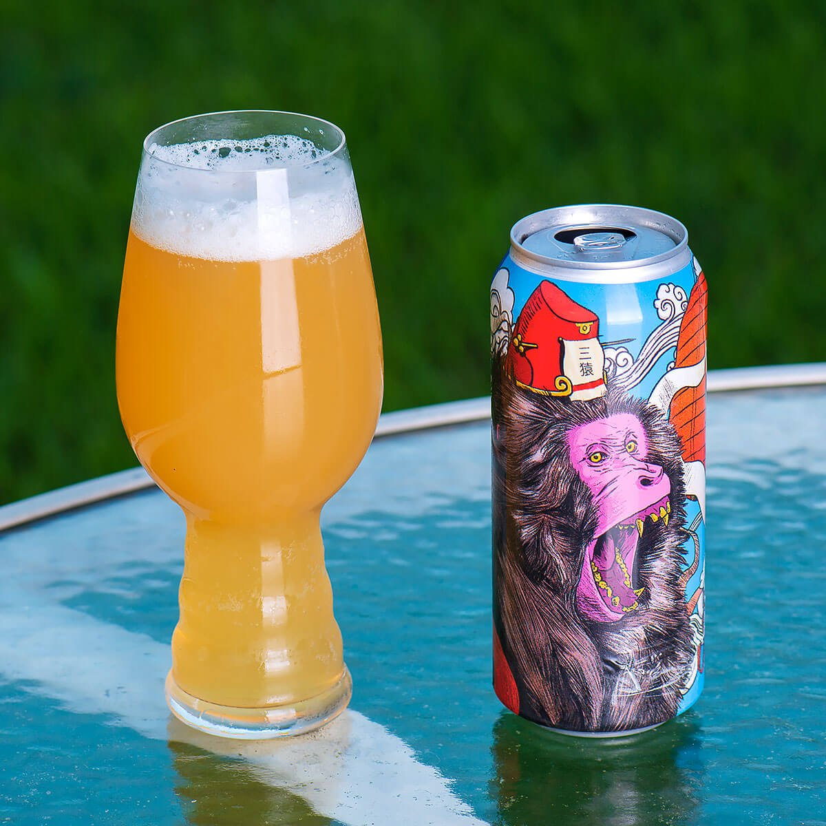 Life In The Clouds is a New England-style IPA by Collective Arts Brewing that blends hoppy citrus with tropical fruits and bready malt.