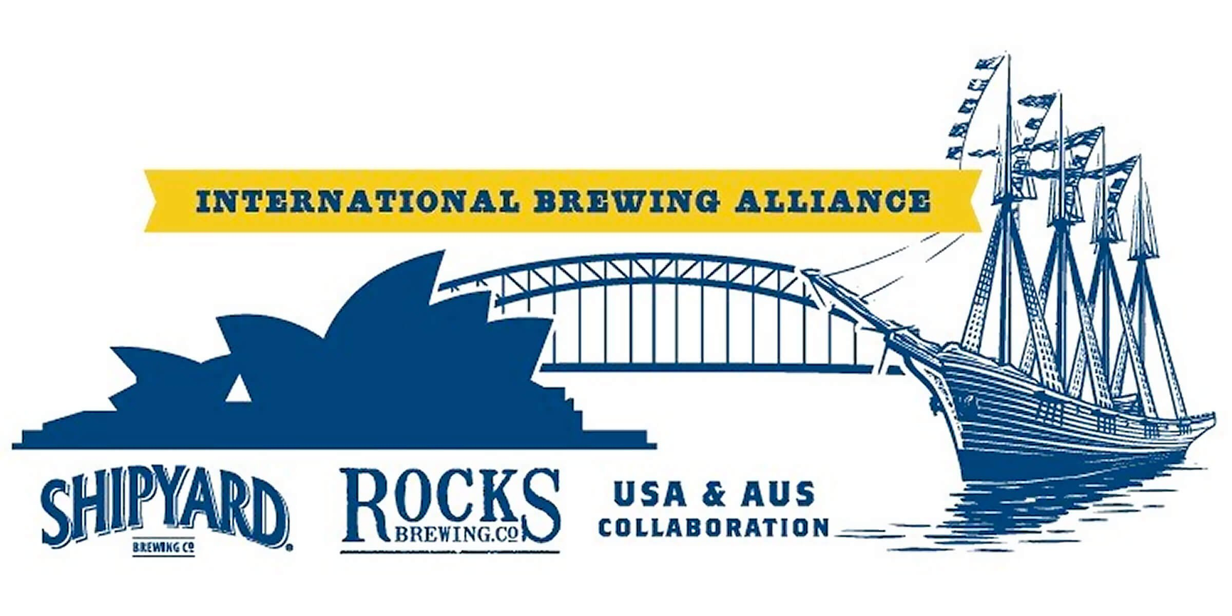 Shipyard Brewing Co., Maine's largest craft brewery, will exchange signature brews with their new partners in Australia beginning with Rocks Brewing Co.