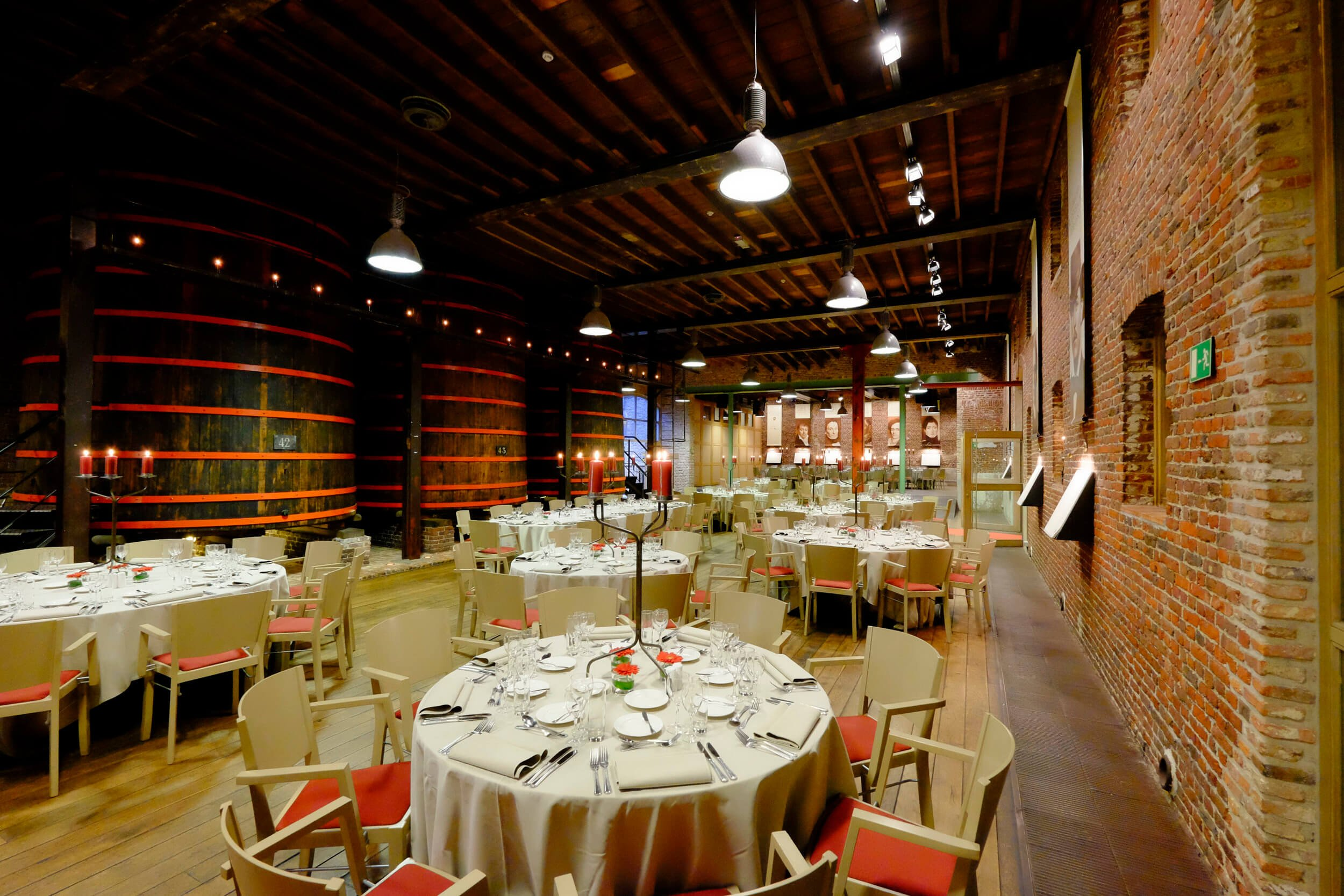 Inside the Brouwerij Rodenbach in Roeselare, Belgium